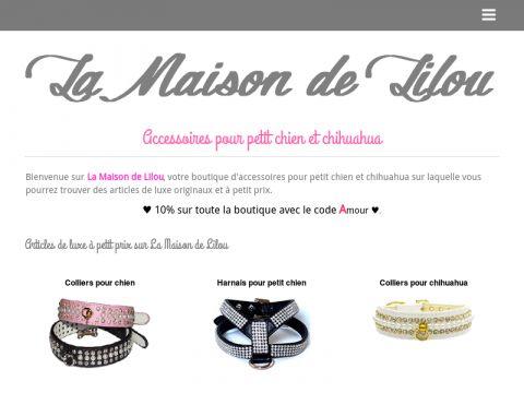 La Maison de Lilou : Harnais pour petit chien, colliers et vêtements de luxe à petit prix sur la maison de lilou.