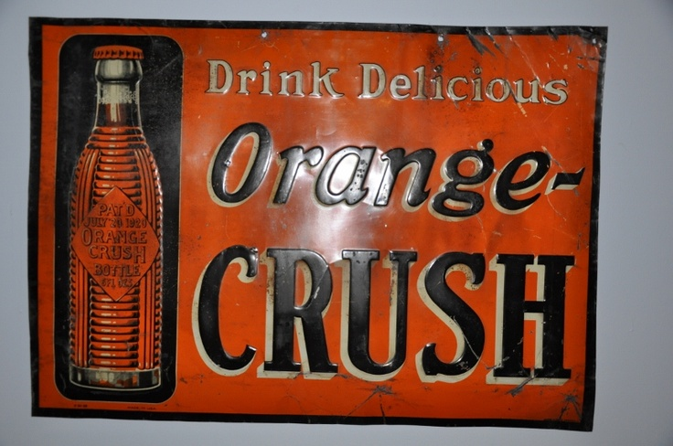 1920 1930 Orange Crush Sign Antiques A Passion