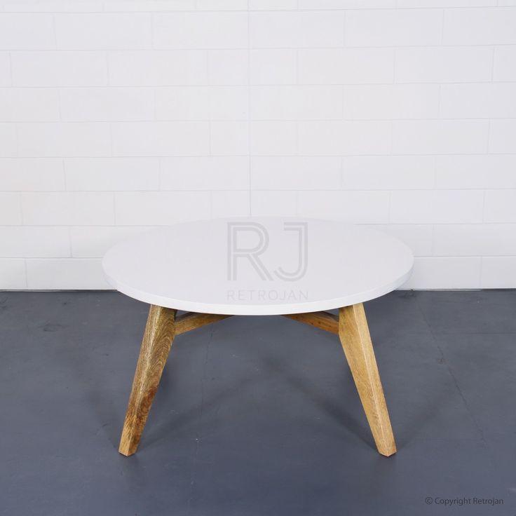 Annika Danish Style Round Coffee Table - White