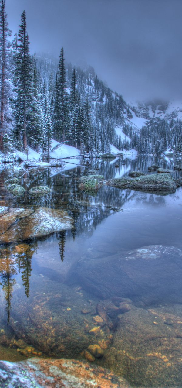 Rocky Mountain National Park, Colorado just after a spring snow. A beautiful morning in the clouds! http://imagesbyblair.smugmug.com/Landscapes/Rocky-Mountain-National-Park/23187747_5rwMfx#!i=1868889311=GvcscjF mountain landscape, beautiful lake