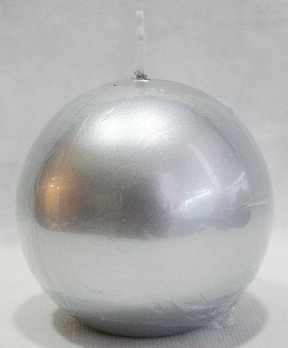 Candela a sfera in cera color argento. Diam.8 cm a lunga durata. Per decorazioni, centrotavola e non solo a Natale, tutti gli eventi da festeggiare anche gli anniversari. By C&C Creations Store