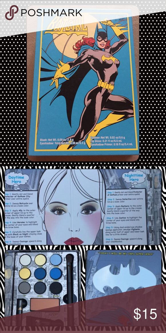 Gotham Girls Batgirl Makeup Palette Ltd Edition Brand new, never used. This is a collectors item & is no longer for sale in stores. Includes: Eyeshadow, Eyeliner, Blush, Eyeshadow Primer & Lipgloss. Would make a great gift or addition to anyones makeup collection! DC Makeup Eyeshadow