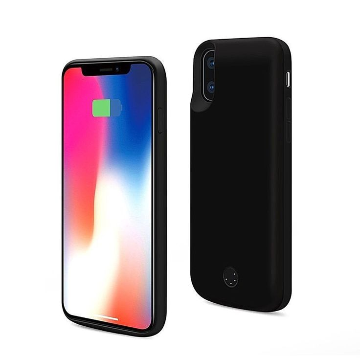 Iphone X Battery Case 5000mAh Rechargeable External Power Bank 5.8 In.Black New #Apple
