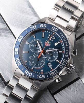 e2c2e160f6e Tag Heuer Men's Swiss Chronograph Formula 1 Stainless Steel Bracelet Watch  43mm - Silver
