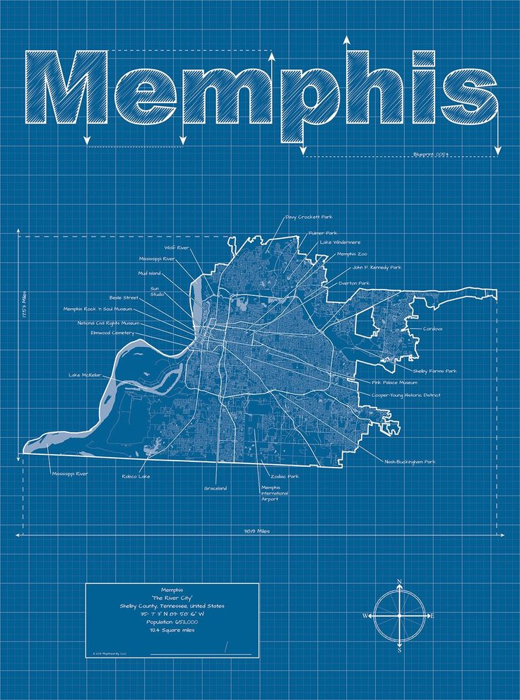 16 best maps images on pinterest cards maps and tennessee usa blueprint map of memphis tennessee usa malvernweather Choice Image