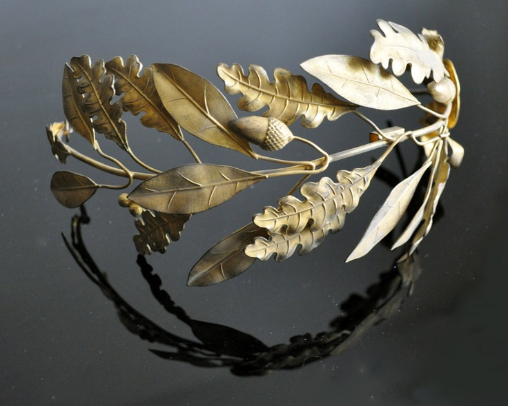1880s Antique gold FRENCH tiara