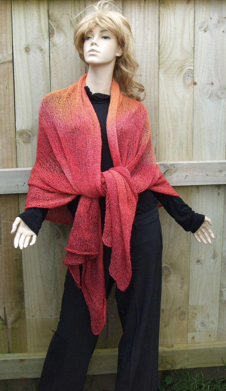 Tied shawl wrap