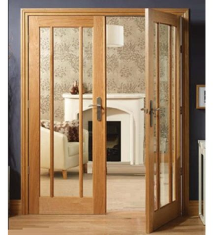 Worcester oak 3 pane fire door pair with clear safety glass is 30 minute fire rated giving great fire safety for the home. & 148 best Interior Doors \u0026 Internal Doors at Emerald Doors images ... Pezcame.Com