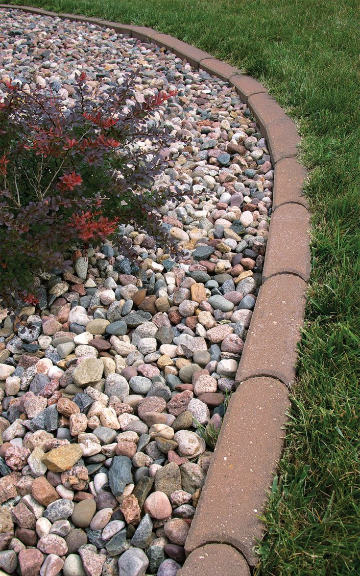 Landscaping Rock At Menards : Remodelaholic beautiful garden edging ideas a guide to lawn edgers