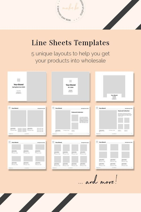 Easy To Customize Line Sheet Template With 15 Unique Layouts