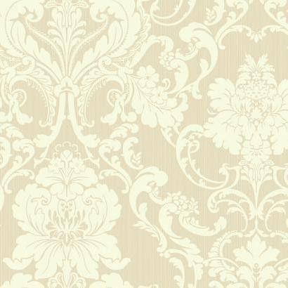 "Shimmering Topaz Formal Lacey 27' x 27"" Damask Wallpaper"