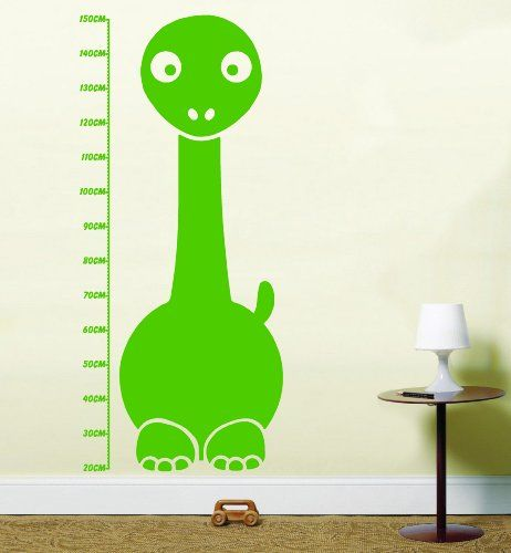 dinosaur kids height chart vinyl wall art stickers lswa1