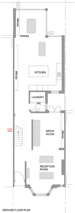 Floorplan Floor Plan Victorian Terrace Renovation Pinterest Layout
