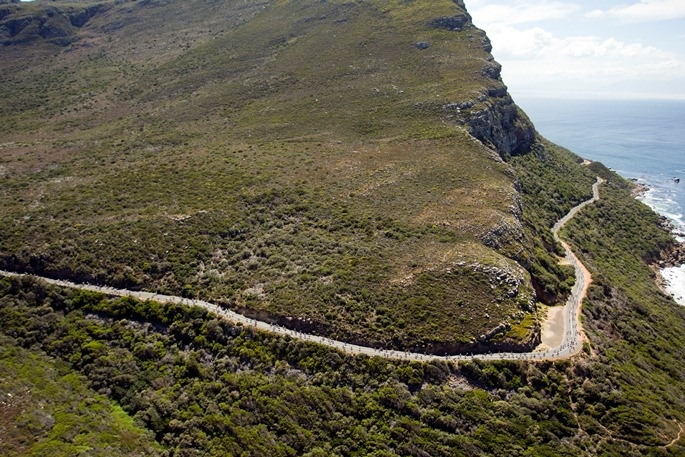 The beautiful Cape Town surroundings of the Cape Argus Pick n Pay Cycle Tour