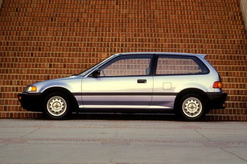 1989 Honda Civic Hatchback - Fourth Generation (1988 - 1991). I used to own a silver 1988 Civic that looked just like this one. Great little car.
