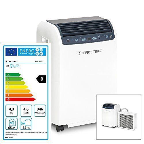 TROTEC Climatiseur mobile split PAC 4600: Climatiseur split mobile Puissance frigorifique max. : 4,3 kW Indiqué pour 120 m³ max. env.