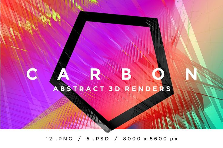 CARBON - Abstract 3D Renders by INSgraphizm on @creativemarket