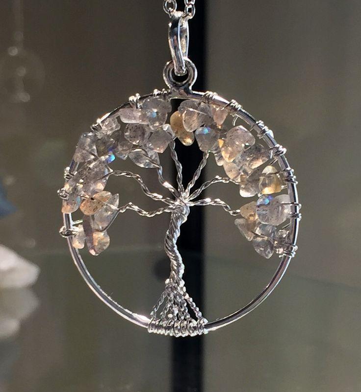 New! Chakra Tree Of Life Wire Wrap Pendants
