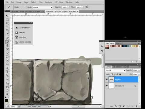 Painting stone texture || CHARACTER DESIGN REFERENCES