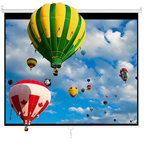 """Cloud Mountain 100"""" 4:3 HD Manual Projector Screen w/ Auto Lock Home Theater Office Wall Mounted Ceiling Pull Down Projection 1.3 Gain Matte White #Cloud #Mountain #Manual #Projector #Screen #Auto #Lock #Home #Theater #Office #Wall #Mounted #Ceiling #Pull #Down #Projection #Gain #Matte #White"""