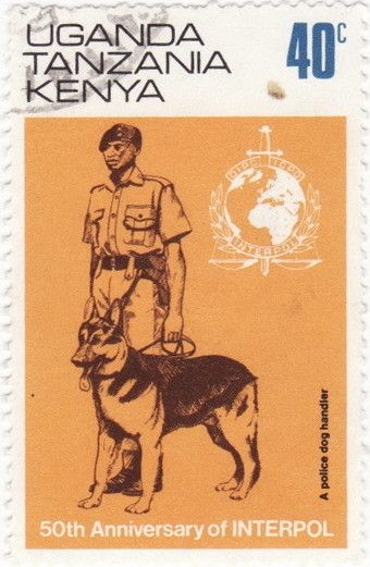 Stamp: Police dog handler (East African Community) (50th Anniversary of…