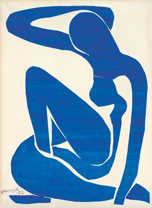 Henri Matisse (1869 -1964)  Blue Nude (I), 1952  Gouache painted paper cut-outs on paper on canvas 106.30 x 78.00cm Digital Image: © Foundation Beyeler, Riehen/Basel Photo: Robert Bayer, Basel Artwork: © Succession Henri Matisse/ DACS 2014