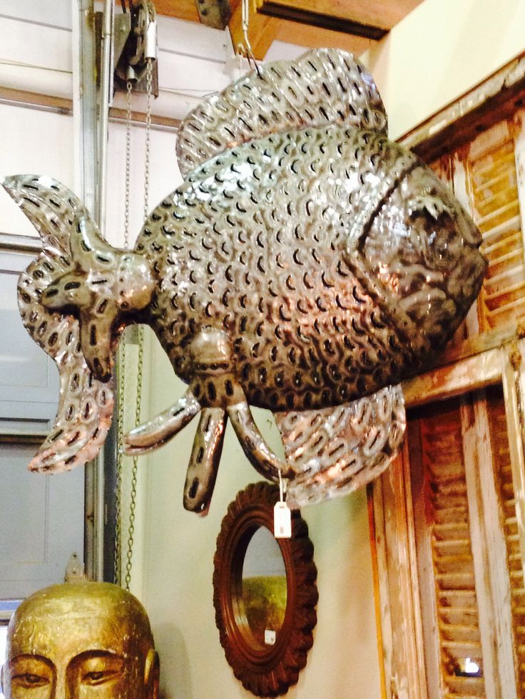 More beach decor.  This fish was awesome  from Farmers Market Raleigh NC http://www.market-imports.com
