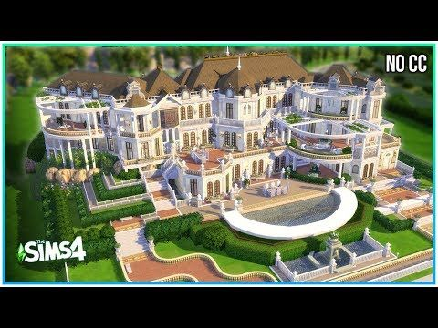 Multi Level Mansion Sims 4 Speed Build Kate Emerald Youtube Sims 4 House Building Sims Building Sims House Design