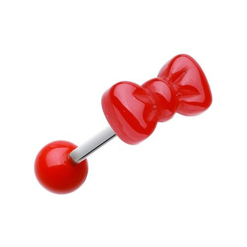"""PIERCING LANGUE NOEUD PAPILLON ROUGE http://www.aiapiercing.com/collections/piercing-old-school/piercing-langue-noeud-papillon-rouge Le reste de notre catégorie """"langue"""" sur http://www.aiapiercing.com/piercing-langue #piercing #langue #noeud"""