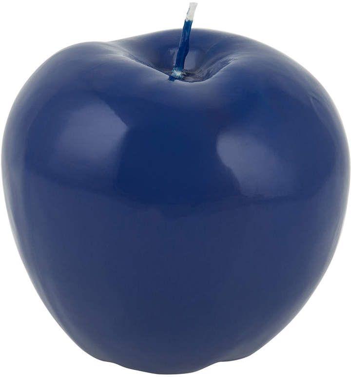 Bitossi Home Wax Apple Candle Shiny Blue