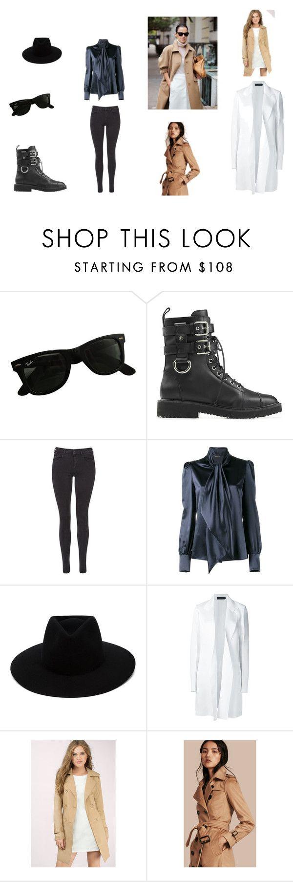 Nikshen Style by len-bon on Polyvore featuring moda, Yves Saint Laurent, Calvin Klein Collection, Burberry, Tobi, Maison Scotch, Giuseppe Zanotti, rag & bone and Ray-Ban