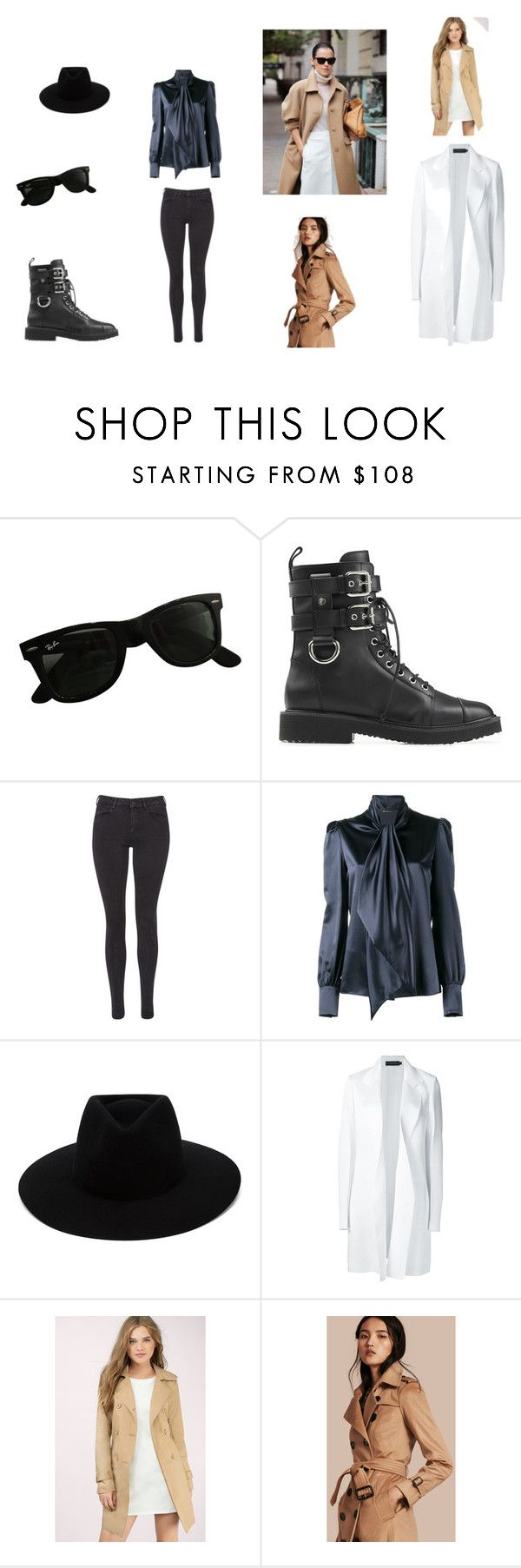 Nikshen Style by len-bon on Polyvore featuring moda, Yves Saint Laurent, Calvin Klein Collection, Burberry, Tobi, Maison Scotch, Giuseppe Zanotti, rag & bone and Ray-Ban