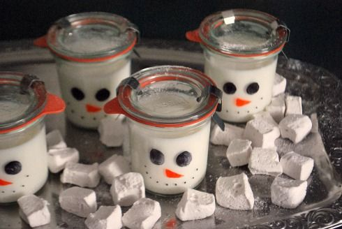 A fun way to serve milk or white hot chocolate this holiday season.