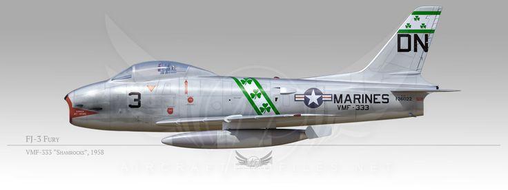 "FJ-3 Fury, VMF-333 ""Shamrocks"", 1958"
