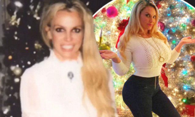 Coco Austin and Britney Spears show off their festive Christmas trees