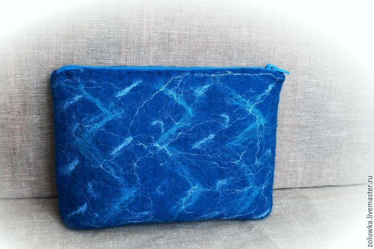 Купить Валяная косметичка--клатч Ажур - разноцветный, сумка, сумку купить, сумка валяная