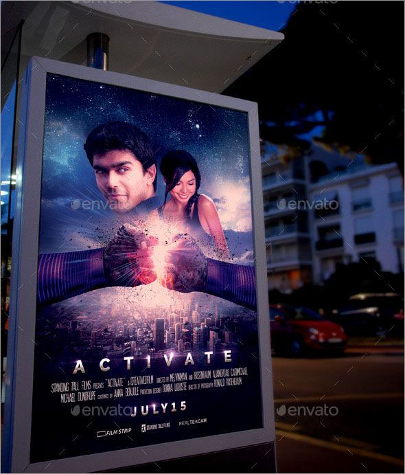 Free Modern Photo Realistic Movie Posters Designs Poster Mockup