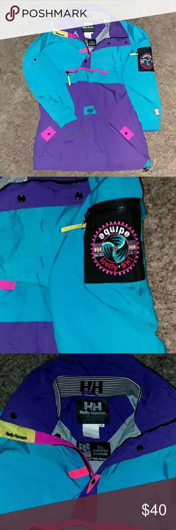 Helly Hansen vintage ski jacket Excellent condition vintage ski jacket!!! Has numerous pockets for storage! Beautiful vibrant colors, waterproof, and breathable pockets. Size medium Helly Hansen Jackets & Coats