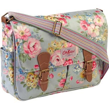Cath Kidston is a little cutesy for you, BUT the completely washable fabric and tons of pockets make them very practical.