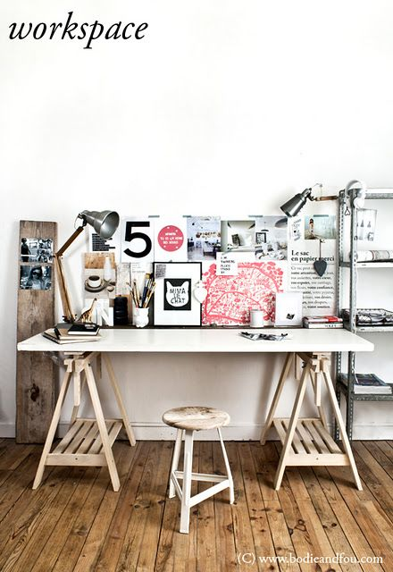 trestle table <3  Would make a great Art Studio space