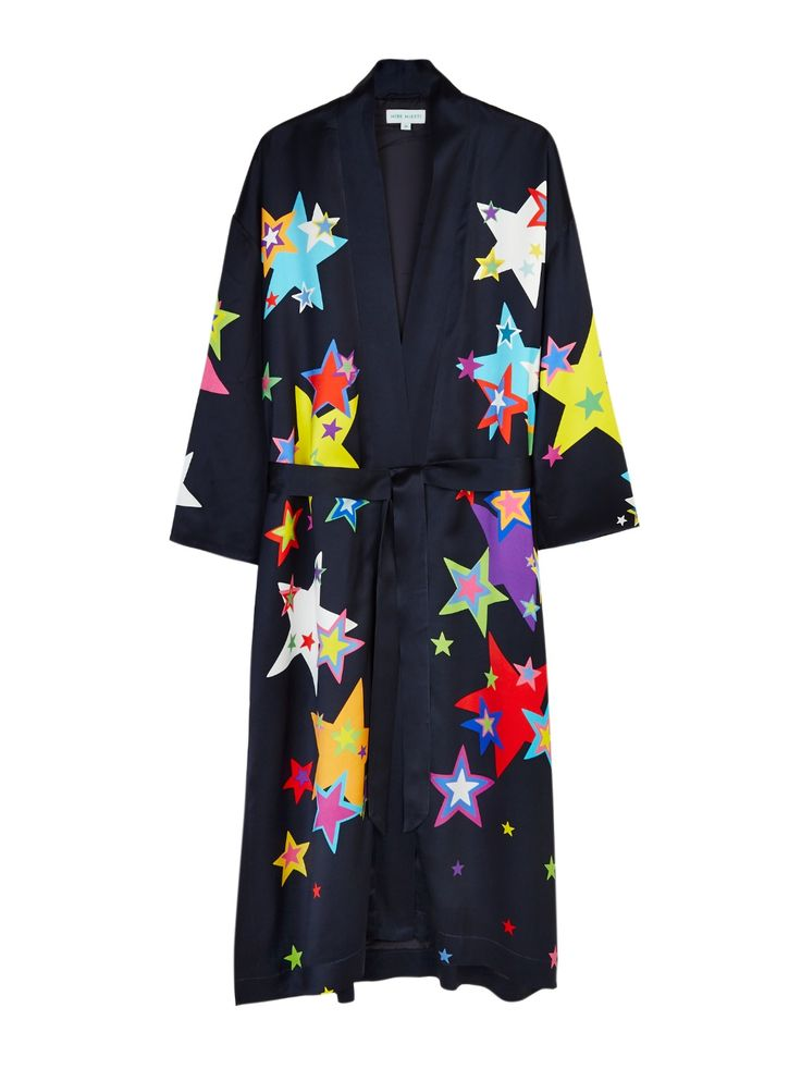 MIRA MIKATI PRINTED STARS ROBE. #miramikati #cloth #