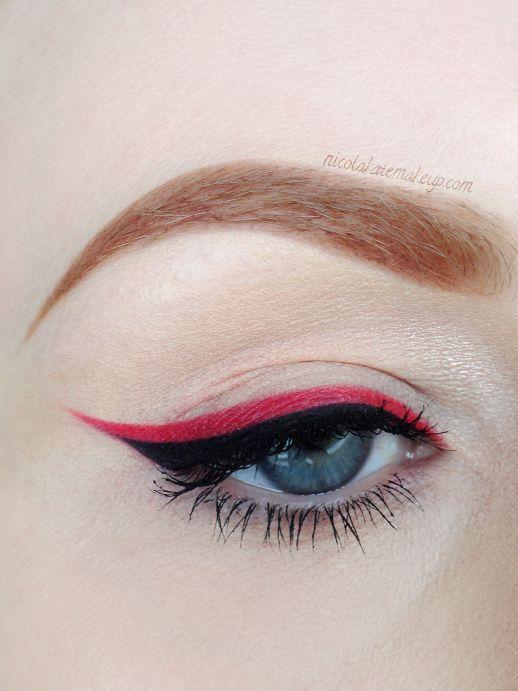 Red eyeliner by Nicola Kate Makeup