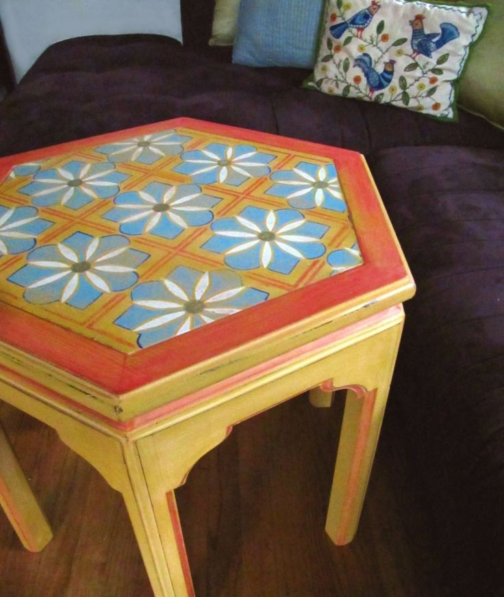 Appealing Hand Painted End Tables Design Ideas : Hand Painted Sofa Tables Design Ideas With That Hand Painted Side Tables Design Ideas