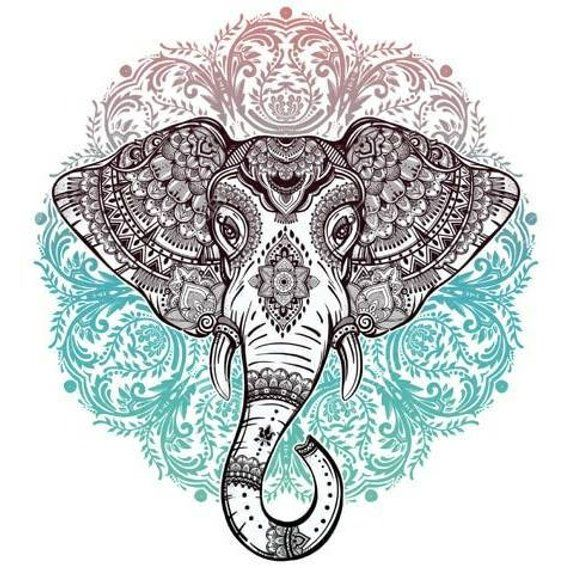 5D DIY Diamond Painting Mandala Elephant Mosaic Cross Stitch