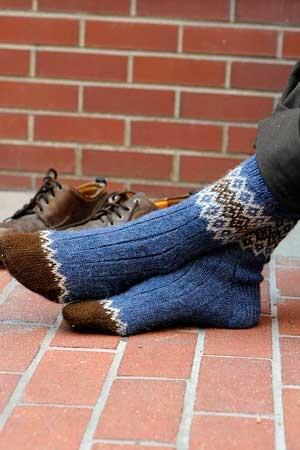 Border Socks. Mary Jane Mucklestone, IK Fall 2011. Love!