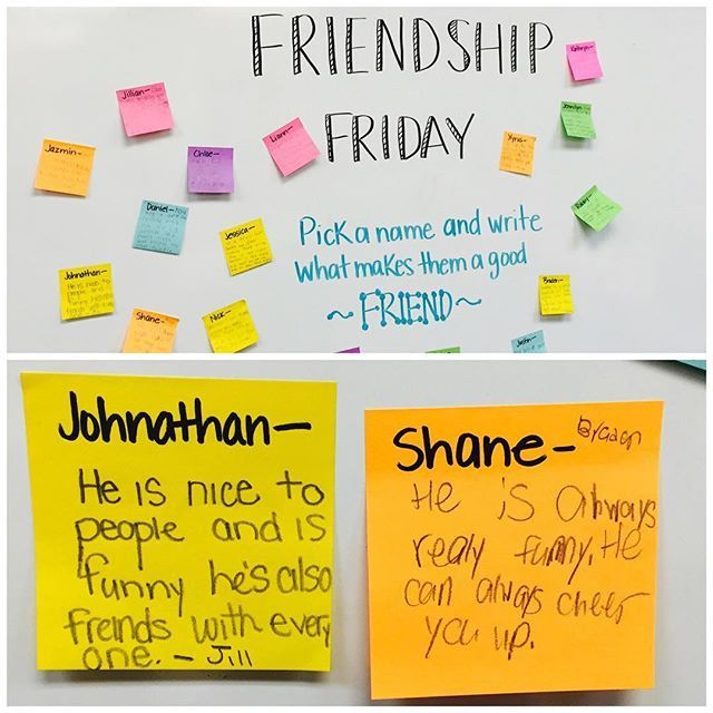 Friendship Friday! I work on community building ALL year and want my students to…