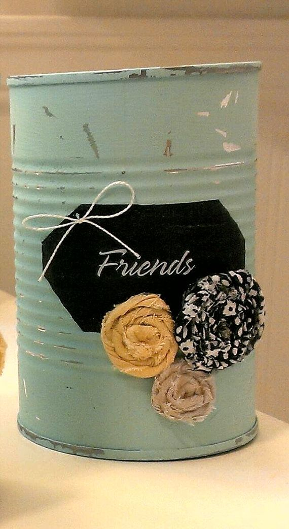17 best ideas about painted tin cans on pinterest paint for Large tin can crafts