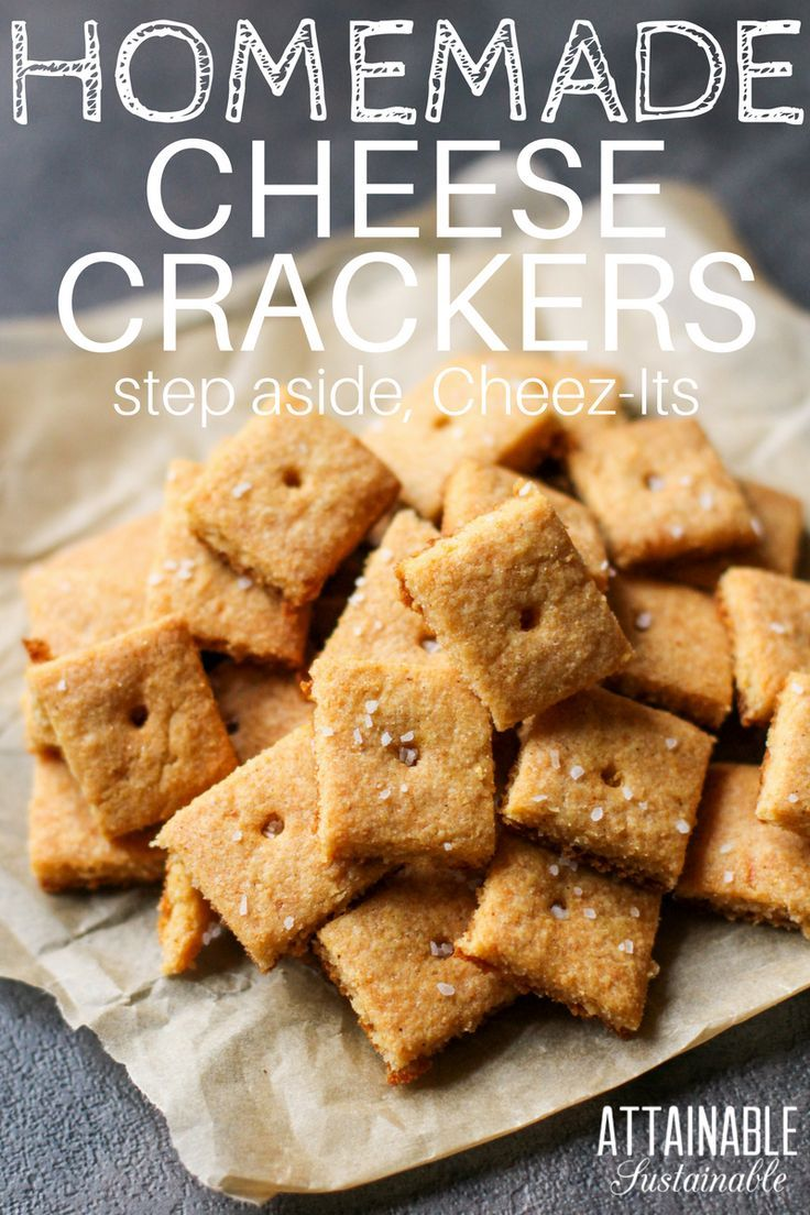 These homemade cheese crackers are gluten free and taste great. Much like your favorite boxed brand of cheese crackers. Perfect for snacking and school lunches. #glutenfree #snack