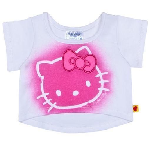 Build A Bear Teddy Clothes - New Retired White Hello Kitty Tee Shirt  #BuildaBear