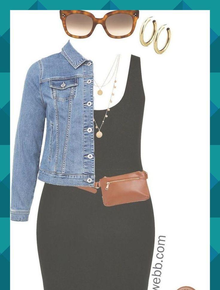 Lands end black bodycon dress with jean jacket download boutiques